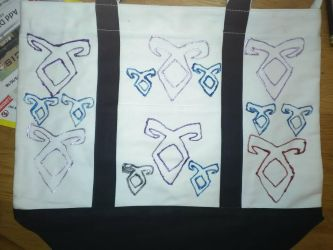 Shadowhunters: Angelic Rune Tote  by A7XFan666