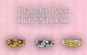 [MMD] Bracelet Pack DL by KuroKanon