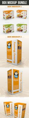 Box Mockup Bundle by graphickey