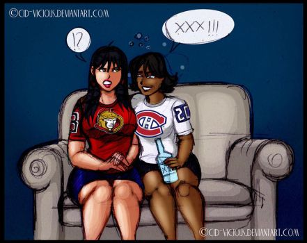 Sketch - Ottawa Senators vs Montreal Canadiens by Cid-Vicious