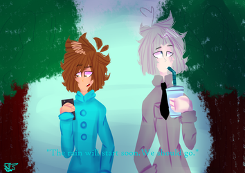 {Art Trade} Some cool bois by LilyArts27