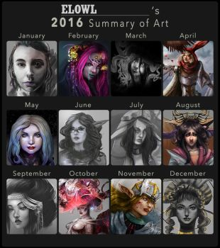 2016 Summary Of Art by Elowly