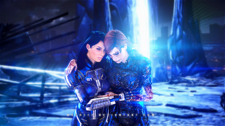 Ash X Shepard - Another Ending by nses117
