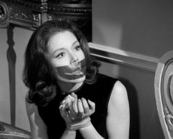 Diana Rigg Tape Bound and Gagged by Goldy0123