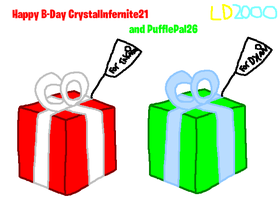 Happy B-Day CrystalInfernite21 and PufflePal26 by Luqmandeviantart2000