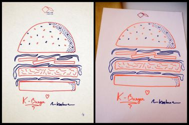 Risograph Burger by Kaelmn