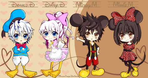 Disney Chibis by MindlessFrappe