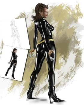 Filipina Catwoman by KRStyle