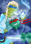 Crossover: TMNT Rise of Frozen by KameBoxer