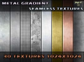 Metal gradient seamless textures by jojo-ojoj