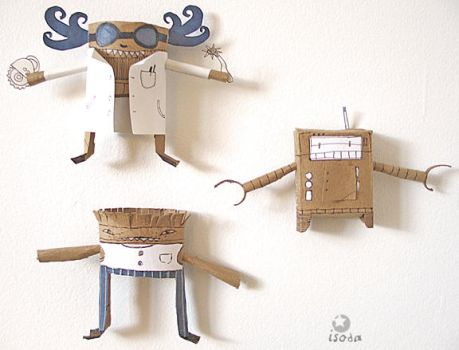 paper toys by grelin-machin