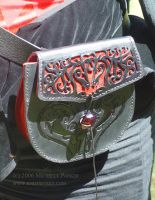 Red and Black Horse Pouch by MPFitzpatrick
