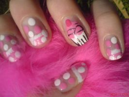 Cupcake Nail Design by AnyRainbow