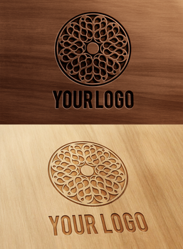Carved and Pressed Wood Logo Mock-Up by wabbitns