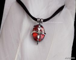 'Witch hunter', handmade sterling silver pendant by seralune