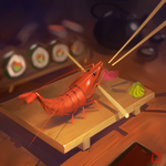 brave shrimp by GaudiBuendia