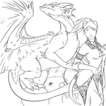 WoW - Draenei and Dragon