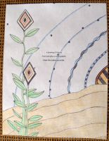 Desert Sunset - Haiku Letter Drawing by Kyle-Lefort