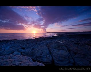 Ogmore by the Sea at sunset by Berrega