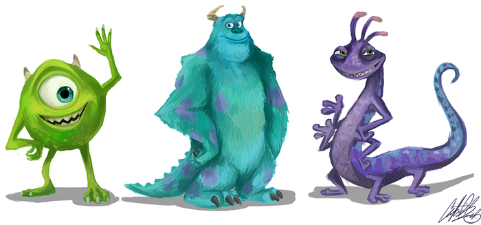 Monsters Inc by NillaKiwi