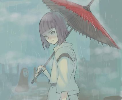 Haku and No Face by RhytHmXII