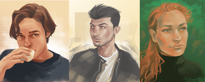 Portrait Paintings by eychanchan