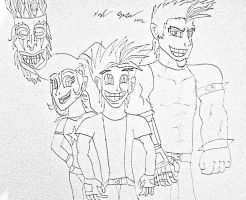 Bandicoot Anime Gang (human) by JediBandicoot