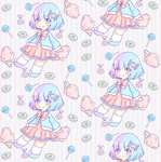Cotton Candy Tile 1 by Momoroo
