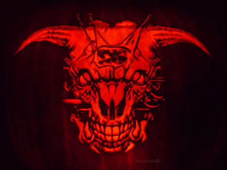 Icon of Sin Pumpkin by ceemdee