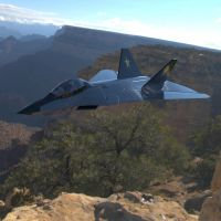 F-24A Over a Canyon by VanishingPointInc