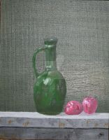 Green Pitcher and Apples by JosephJODonnell