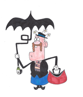 Uncle Grandpa Poppins by cowheaddanny