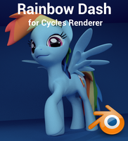 Rainbow Dash for Cycles Renderer (Blender) by Hexedecimal