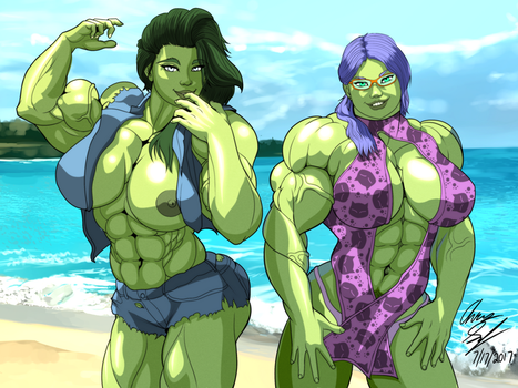 Gamma Twins on the Beach by LunarDiaries