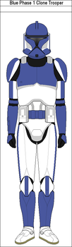 Blue Phase 1 Clone Trooper by MarcusStarkiller