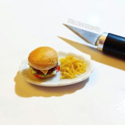 Burger and Fries by SmallCreationsByMel