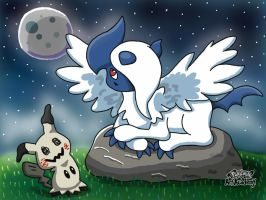 Mega Absol and Mimikkyu by 29steph5