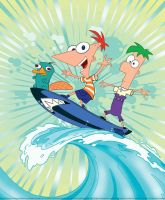 Phineas and Ferb and Perry by cartoon-freak101