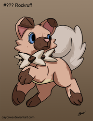 Pokemon Sun and Moon - Rockruff by caycowa