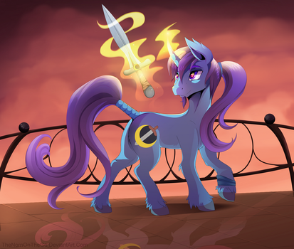 Art Trade: Azure Night by TheNornOnTheGo