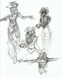 drawing party Sketches 4 by TheInsaneDingo