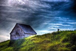 Shanty on a grass knoll by Witch-Dr-Tim