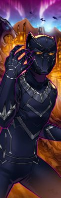 Black Panther Panel Art 2 by RichBernatovech