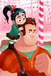 Ralph and Vanellope by DrZime