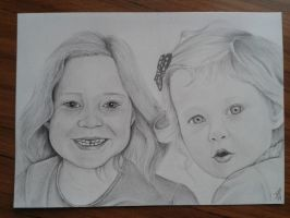 Two girls by davidsteeleartworks
