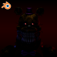 Nightmare Fredbear Blender Port [Rigged] by Elscamon