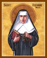 St. Katharine Drexel icon by Theophilia