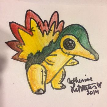 Plush Cyndaquil by litvac-art