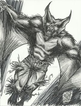 Man-Bat 1 Hour Warm-Up Sketch by StevJVaz72