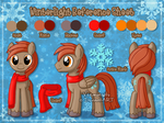 [Commission] Reference Sheet: Winterlight by Veemonsito